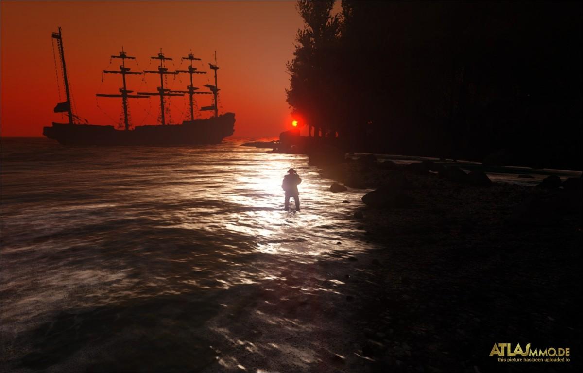 Romantisch bei Sonnenuntergang