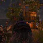 Bär fühlt sich auf dem Boot wie im Wald