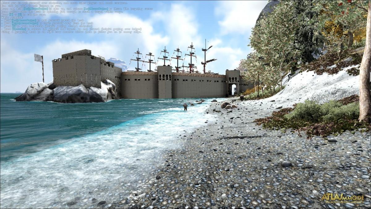 Die Festung im Bau ist Fast fertig, fehlt noch der Leuchtturm